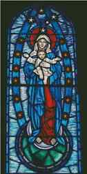 Madonna W/ Baby Jesus Stained Glass Counted Cross Stitch Complete Kit- 15-103