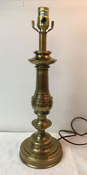 Vintage Stiffel Brass Table Candlestick Lamp Mid Century No Harp Or Shade