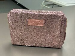 Benefit Cosmetics Sparkle Glitter Makeup Cosmetic Bag Gold Pink New $7.99