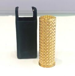 Fred Paris Vintage 18k Yellow Gold Lipstick Holder And Case 24.54 Grams