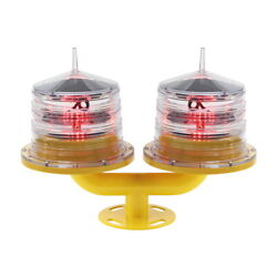 Gmet Solar Powered Double Aviation Obstacle Light For Marine Towers Oil And Gas