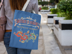 Mother Of Dragons Artwork On Canvas Merchant Tote Bags With Custom Logo