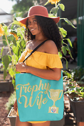 Trophy Wife Trophy Mom Artwork On Canvas Merchant Tote Bags With Custom Logo