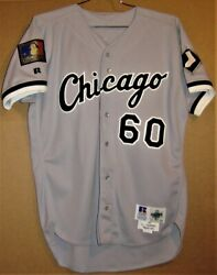 1994 Chicago White Sox Larry Thomas 60 Gray Button-down Russell Mlb Jersey