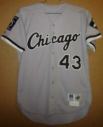 1995 Chicago White Steve Schrenk 43 Gray Button-down Russell Size 44 Jersey