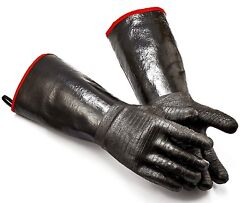 Insulated Food Handling Gloves Waterproof/heat Resistant With Free Bbq Tongs