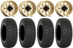 Method 410 14 Gold Wheels 28 Rt320 Tires Can-am Defender