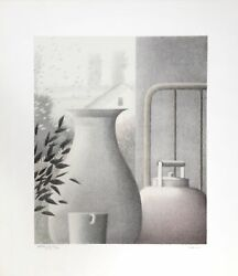 Robert Kipniss Interior With Cup And Kettle Lithograph Signed And Numbered