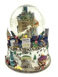Bloomingdales Central Park Snow Globe Twin Towers Big Brown Bag Nyc Lights Music