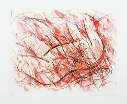 Louisa Chasest. Joan Variante Ii Fire Toile Lithographie Gravuresignandeacutee Et