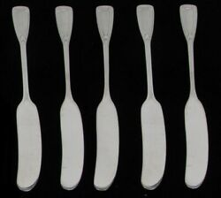 And Co Saint Dunstan 5 Sterling Silver 5 3/4 Flat Butter Spreaders