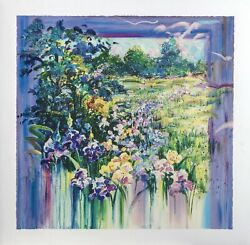 Rebecca Hardin Iris Meadows Screenprint On Coventry Rag Signed And Numbered I