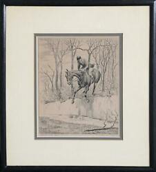 Edward Ned King Blood Will Tell Lithograph Signed In Pencil