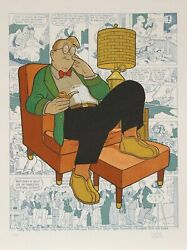 Dick Mooressans Titre - Fauteuil Nap Gasoline Alley Lithographiesignandeacutee And Nu