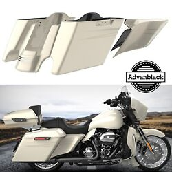 Morocco Gold Pearl Extended Bags Stretched Saddlebag Pinstripes For 2014+ Harley