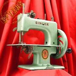 Singer Sewhandy 20 Child Toy Sewing Machine Green Restored By 3fters