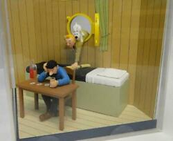 Extremely Rare Tintin Meeting Captain Haddock Figurine Le 5000 Diorama Statue