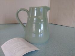 Longaberger Pottery Cottage Creamer Sage Green Woven Traditions New No Box