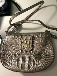 Brahmin Leather Shoulder Silver Bag $95.00