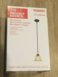 New Portfolio Fallsbrook Oil Rubbed Bronze With Frosted Glass Bell Mini Pendant