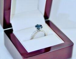 Antique Jewellery Gold Ring Natural Blue Sapphire And Diamonds Vintage Jewelry P