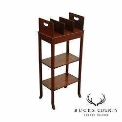 Antique Edwardian Mahogany Book Stand