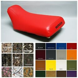 Honda Trx300 Fourtrax Seat Cover In Red 25 Colors And 2-tone Black St