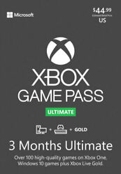 Xbox Game Pass Ultimate 3 Months Brand New Single Code Usa For New Or Existing