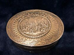 French And039tabatiere Boiteand039 Silver Gilt Table Snuff Box C18th 1750s