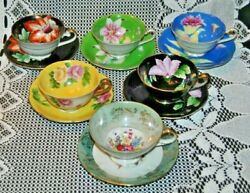 6 Beautiful Vintage Made In Occupied Japan Teacups And Saucers Lot Lx14