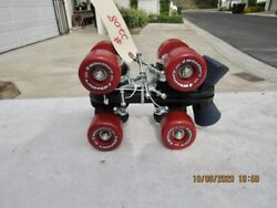 Plates And Wheels And Mounting Hardware 4 Wheeler Roller Skates Fit's Size 3 Shoe.