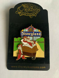 Disney Auctions Disneyland Marquee Chip 'n' Dale Slider Le Pin New Noc