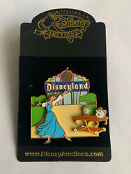 Disney Auctions Disneyland Marquee Belle Chip Mrs. Potts Slider Le Pin New Noc