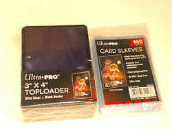 25 Ultra Pro BLACK BORDER Toploads Standard Hard Card Toploader100 soft sleeve