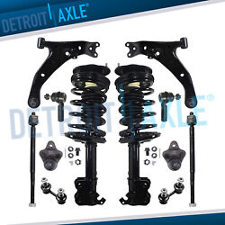 12pc Front Struts Control Arms Tie Rods Kit For Chevy Geo Prizm Toyota Corolla
