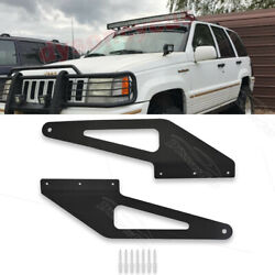 Fit 93-98 Jeep Grand Cherokee Zj Over Windshield 50and039and039 Curved Led Light Bar Mount