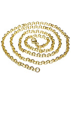 3500  14 Kt Yellow Gold Cable Link Chain 22 19.5 Gr