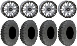 System 3 Sb-4 Grey 6+1 15 Wheels 30 Race Tires Can-am Defender