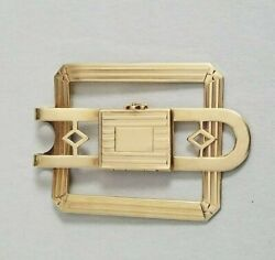 Retro Money Clip 14k Yellow Gold With Locking Picture Frame Vintage 1940s