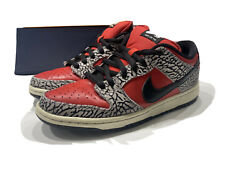 Nike Supreme Dunk Low Pro Cement Red