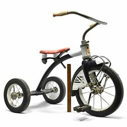 Vintage Amf Junior Toy Corp. Trikes And Bikes Rare Tricycle C.1950's Black And Red