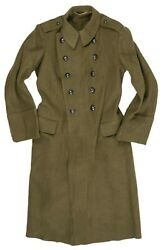 Genuine Romanian Army Wool Trench Coat Military Greatcoat Heavy Winter Overcoat