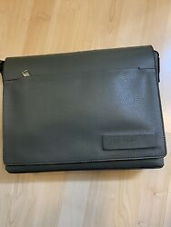 NWT Gray Calvin Klein Business Casual Flap messenger leather bag $139.50 $69.99