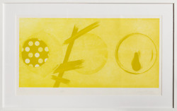 James Rosenquist Pale Lamps 2nd State Aquatint Etching Signed Numbered Da