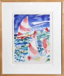 Fred Mitchell Voile Aquarelle Painting