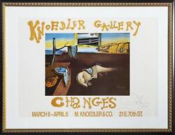 Salvador Dalandiacute Knoedler Gallery Changes Poster Signed And Dated In Ink