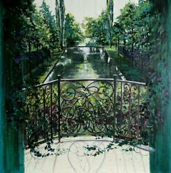 Rebecca Hardin Morning Shadows Giclee On Canvas Signed And Numbered In Gold P