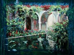 Rebecca Hardin Mediterranean Villa Giclee On Canvas Signed And Numbered In Go