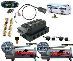 V Vu4 Airvalve Manifold Dc480s 7switch Airride Suspension,1/2 Airhose Fittings
