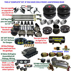 B Air Suspension -complete U-have Coil Front/leaf Rear Heavy Duty 4-link